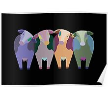 Confused Cows Poster
