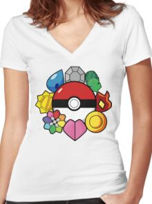 The Original Badge Collector.  Women's Fitted V-Neck T-Shirt