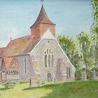 Selmeston Church by John Rees by HurstPainters