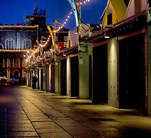 Stalls at Night by Paul Wilkin
