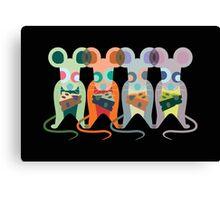 Mischievous Mice Canvas Print
