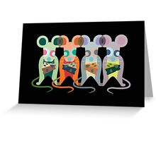 Mischievous Mice Greeting Card