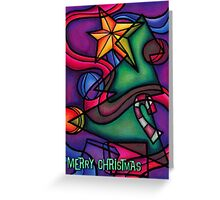 Cubist Christmas Greeting Card