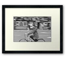 Bicycle Panning Framed Print