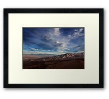 Father Crowley Vista Point. Panamint Range and Panamint Valley. Framed Print