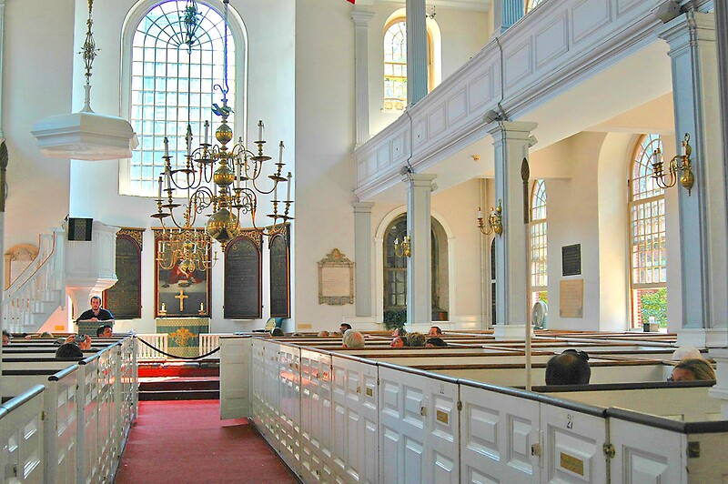 Quot Old North Church Boston Interior Quot By Joseph Rieg