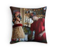 Bar Top Hula Girl Throw Pillow