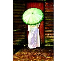 A stranger at the door? Photographic Print