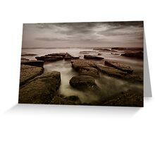 Bar Beach Rock Platform Greeting Card