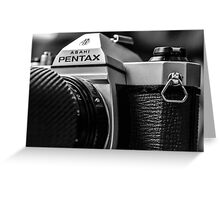 Pentax film Camera Greeting Card