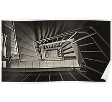 Stairs Spiral Poster