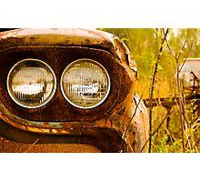 Rusty Truck HeadLights Photographic Print
