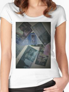 SEVERAL GRAPHIC DESIGN PROJECTS(C1997 - 2000) Women's Fitted Scoop T-Shirt