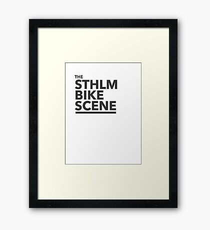 the STHLM BIKE SCENE Framed Print