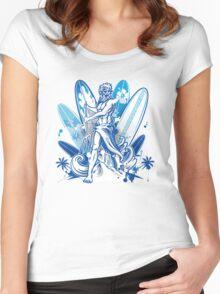 poseidon surfer  Women's Fitted Scoop T-Shirt