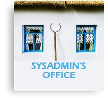Sysadmin's office Canvas Print