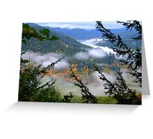 Valley Fog Lifting Greeting Card