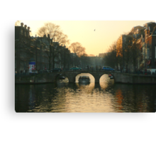 Amsterdam bridges II Canvas Print