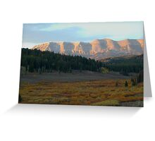 Wyoming in the Morning Greeting Card
