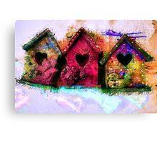 Baby Birdhouses Canvas Print
