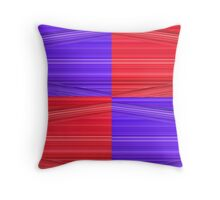 Purple and Red Lines Design Throw Pillow