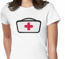 Nurse hat cross Womens Fitted T-Shirt