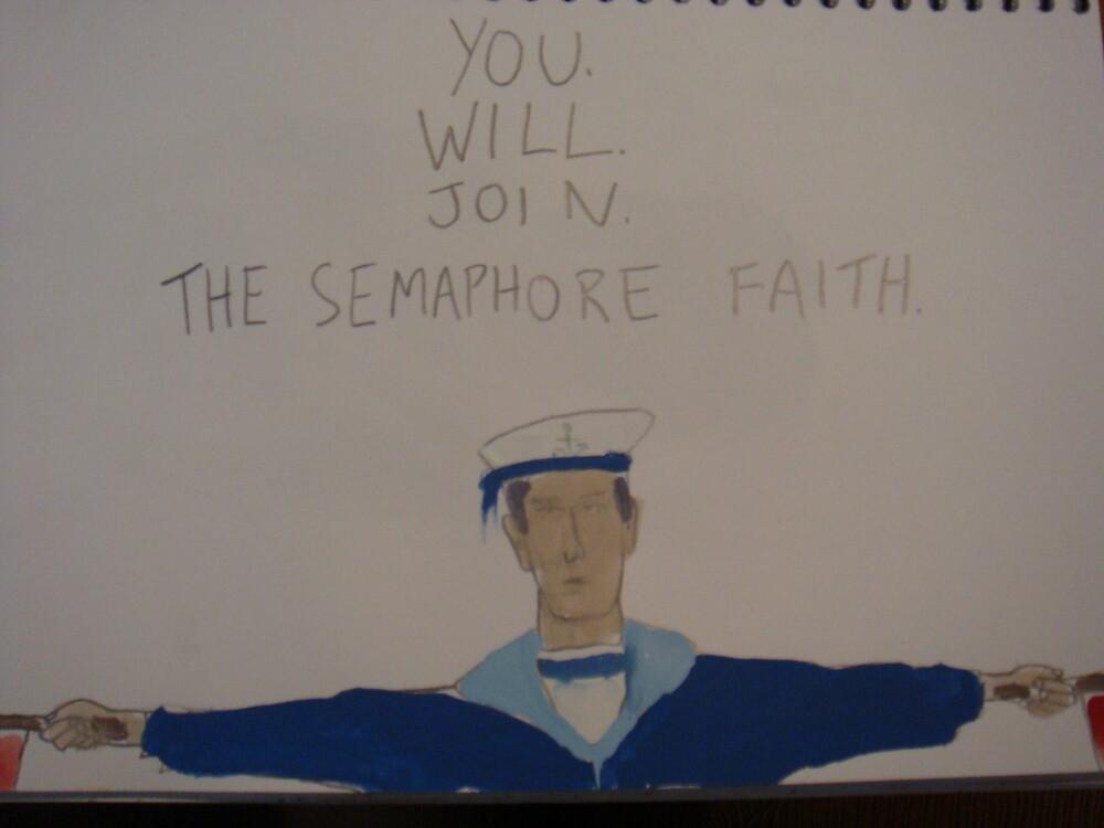 Semaphore Faith by tobytoby