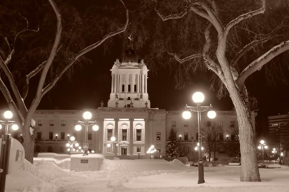 Manitoba Leg In Winter by Geoffrey