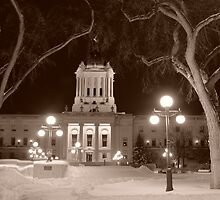 Manitoba Leg In Winter by Geoffrey