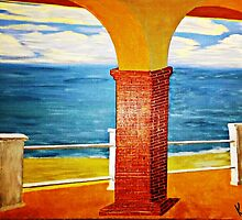 Ocean View Under the Arch by WhiteDove Studio kj gordon