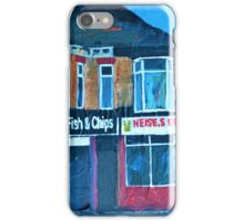 Hull, Chip Shop and Diner, art by Andrew Reid Wildman iPhone Case/Skin