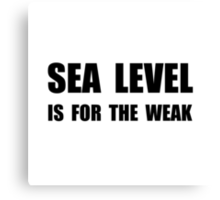 Sea Level For The Weak Canvas Print