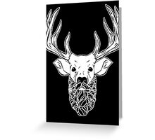 Deer Beard Greeting Card
