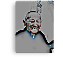 Who laughs lives long! Canvas Print