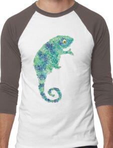 Chameleon Lizard Green Men's Baseball ¾ T-Shirt