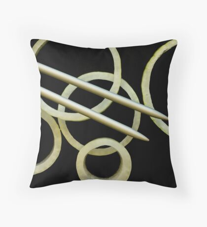 Form of Food - Onions Throw Pillow
