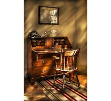 A chair and a desk Photographic Print