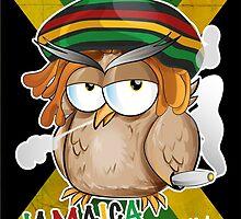 jamaican owl cartoon  by Doomko