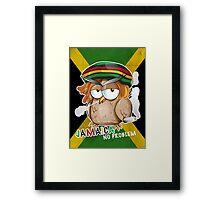 jamaican owl cartoon  Framed Print