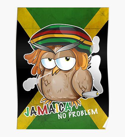 jamaican owl cartoon  Poster