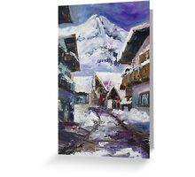 Schattberg, Austrian Alps Greeting Card