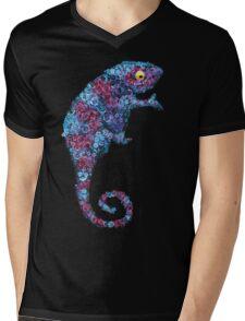 Chameleon Blue Mens V-Neck T-Shirt