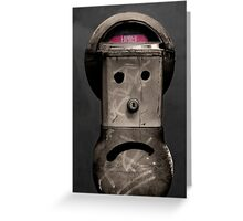 In lieu of flowers, feed the meter. Greeting Card