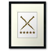 Crossed oboe stars Framed Print