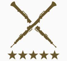 Crossed oboe stars Kids Tee