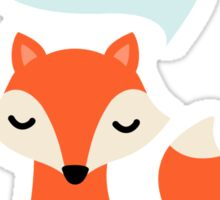 Cute cartoon fox saying Hello Sticker