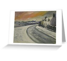 Snow Sunset in Lochcarron Greeting Card