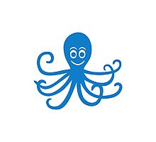 Smiling Octopus Photographic Print