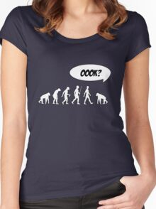 Evolution of Librarian Man Women's Fitted Scoop T-Shirt