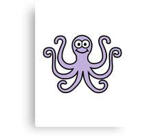 Comic octopus Canvas Print